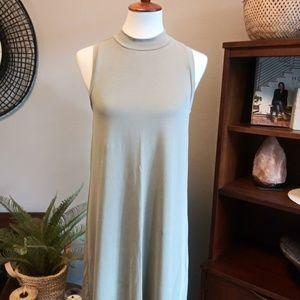 Madewell Turtleneck Jersey Sleeveless Dress